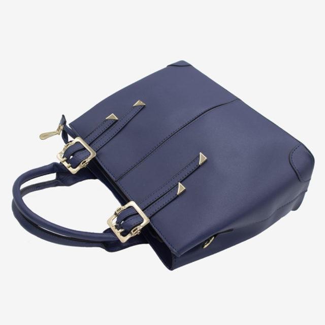 сумка женская синяя кожа