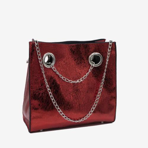блестящая сумка красная