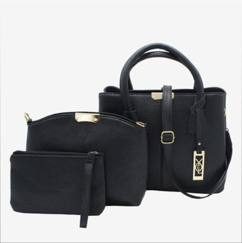 женская сумка 3 в 1 черная