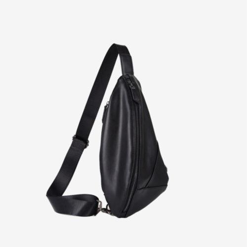 кожаный рюкзак на одно плечо мужской