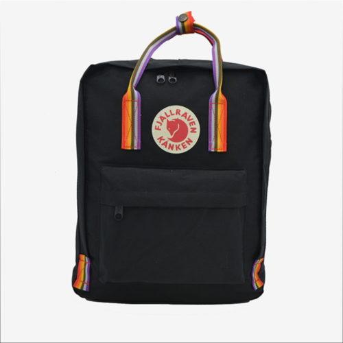 рюкзак канкен черный с радужными